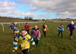 Pupils running the final furlong at Kelso in February