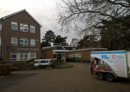 The RTS van at Newmarket Academy on a careers day