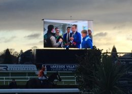 RTS promo video playing at Doncaster Racecourse on December 15th